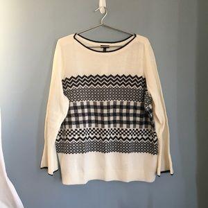 NWT Talbots Fair Isle Lurex Sweater 2X petite